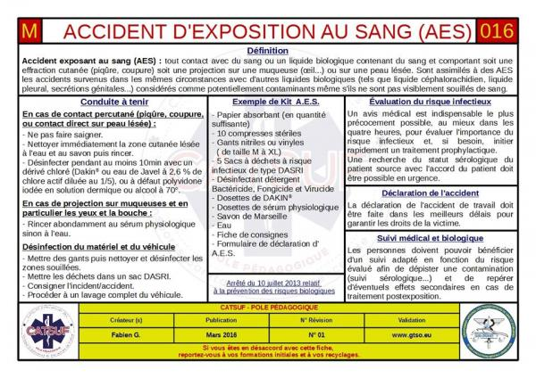 Accident d'exposition au sang (AES)