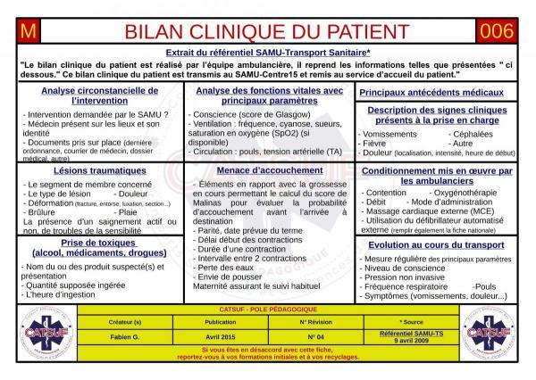 Bilan clinique