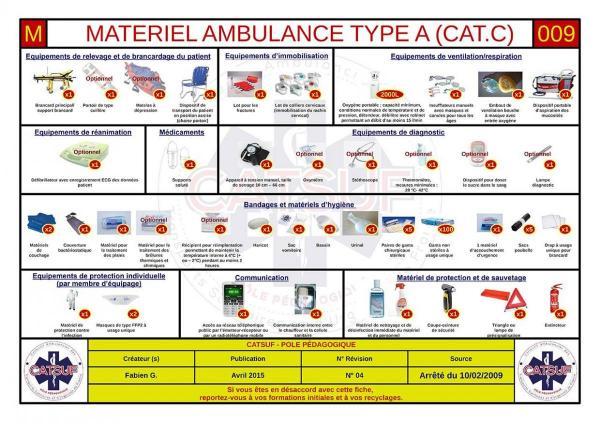 Matériel ambulance Type A (Cat. C)