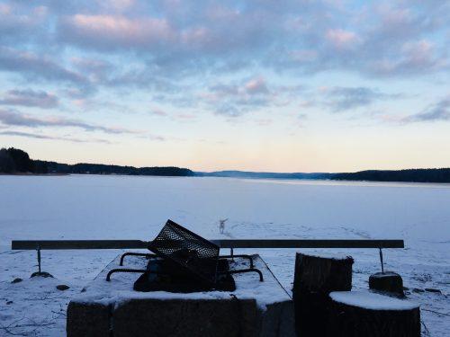 Isesjø, gefroren