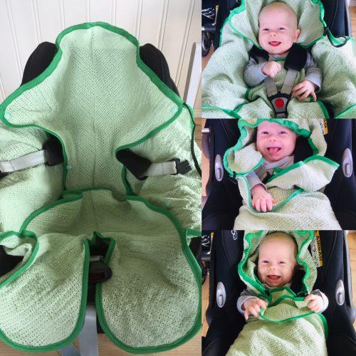 Decke für Kindersitz