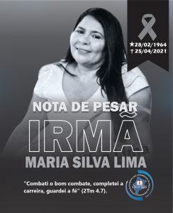 Nota de Pesar_Pr Maria Silva Lima
