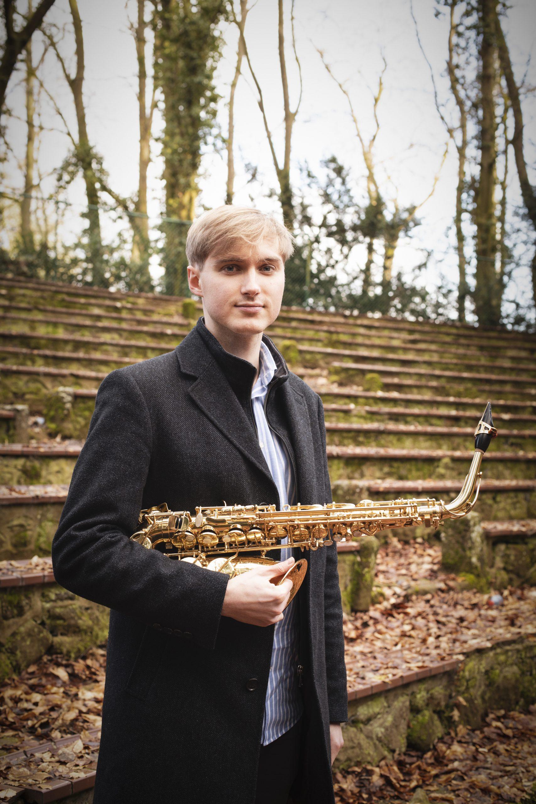 Cédric Delvaux avec saxophone alto