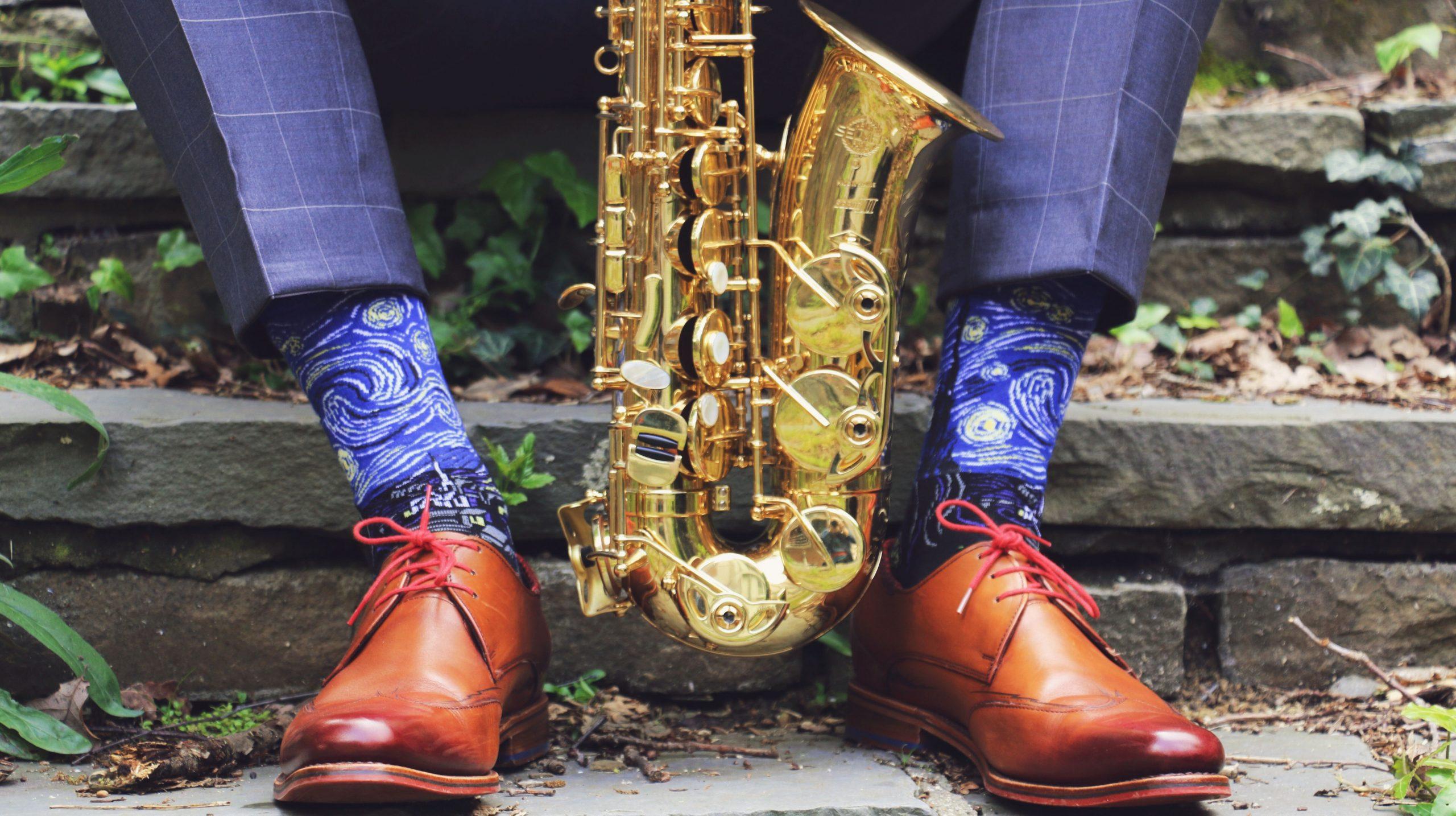 Art Socks Starry Night and alto sax