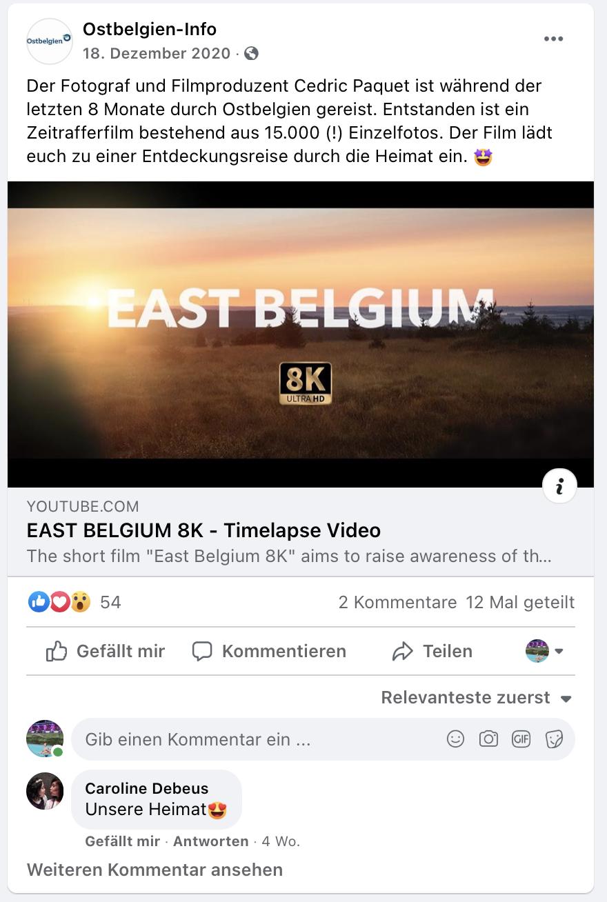 Cedric Paquet Ostbelgien Time-lapse Video 8K