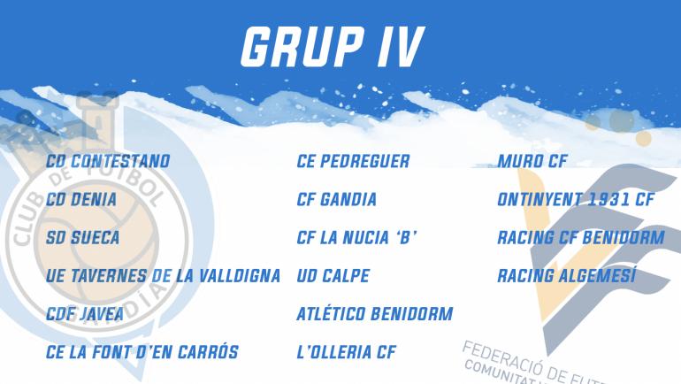 Grup competit per a tornar a somiar. El CF Gandia competirá en el grup IV.