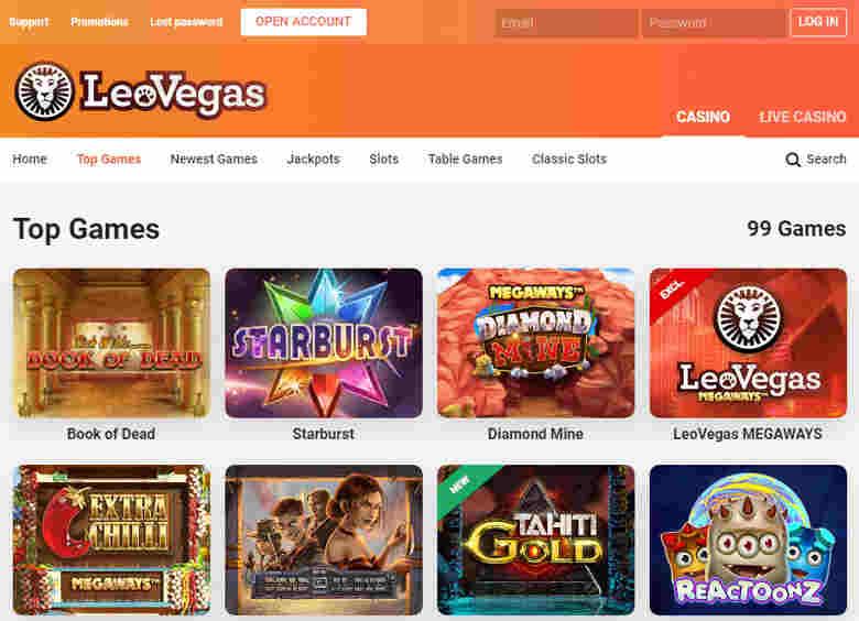 leovegas_top_games