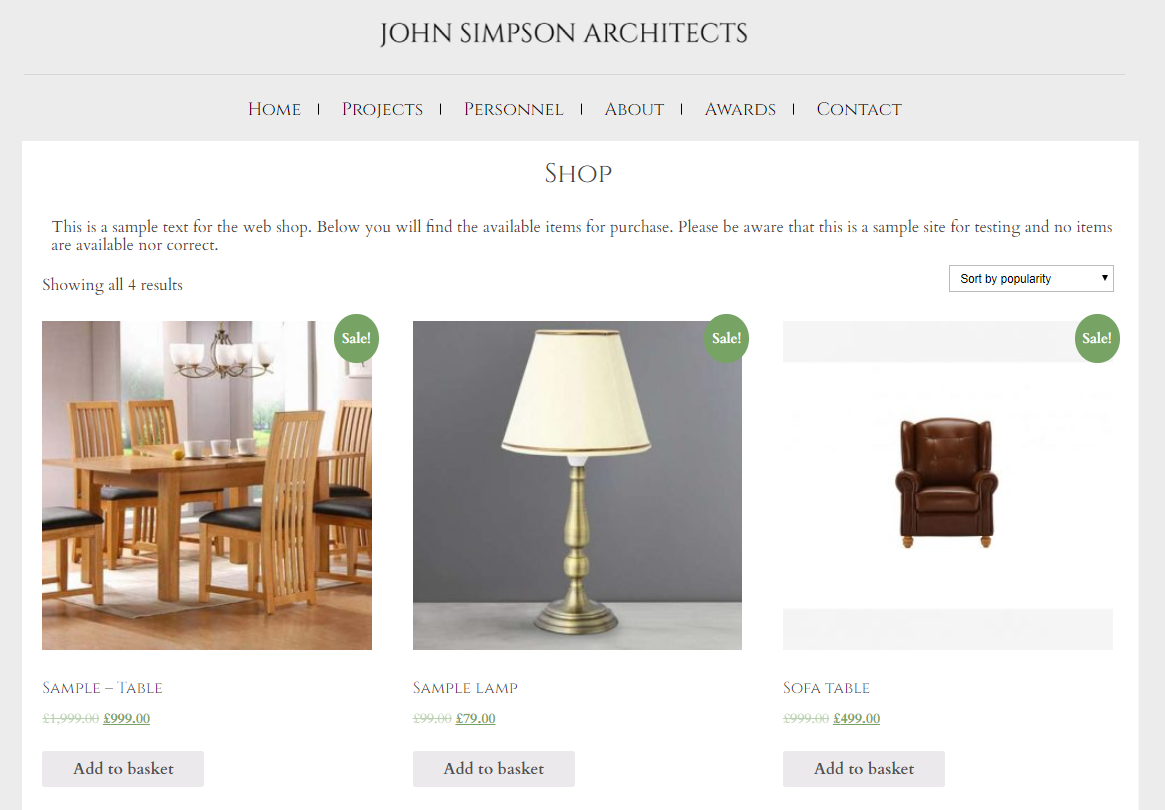 JSA-Web-shop
