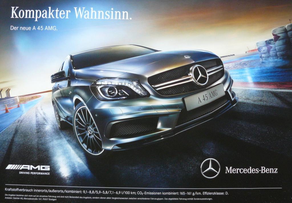 A45 AMG Werbeplakat
