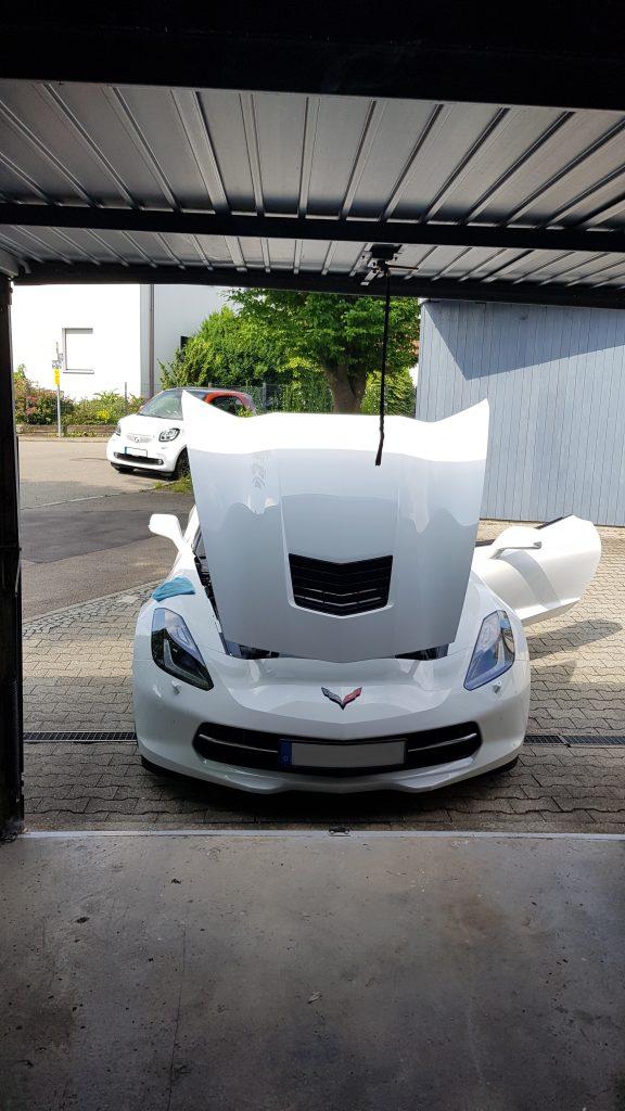 Corvette C7 mit Kunststoffhaube
