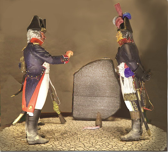 1799-Napoleon-ved-Rosettestenen