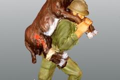 1952-Fransk-legionær-med-såret-æsel