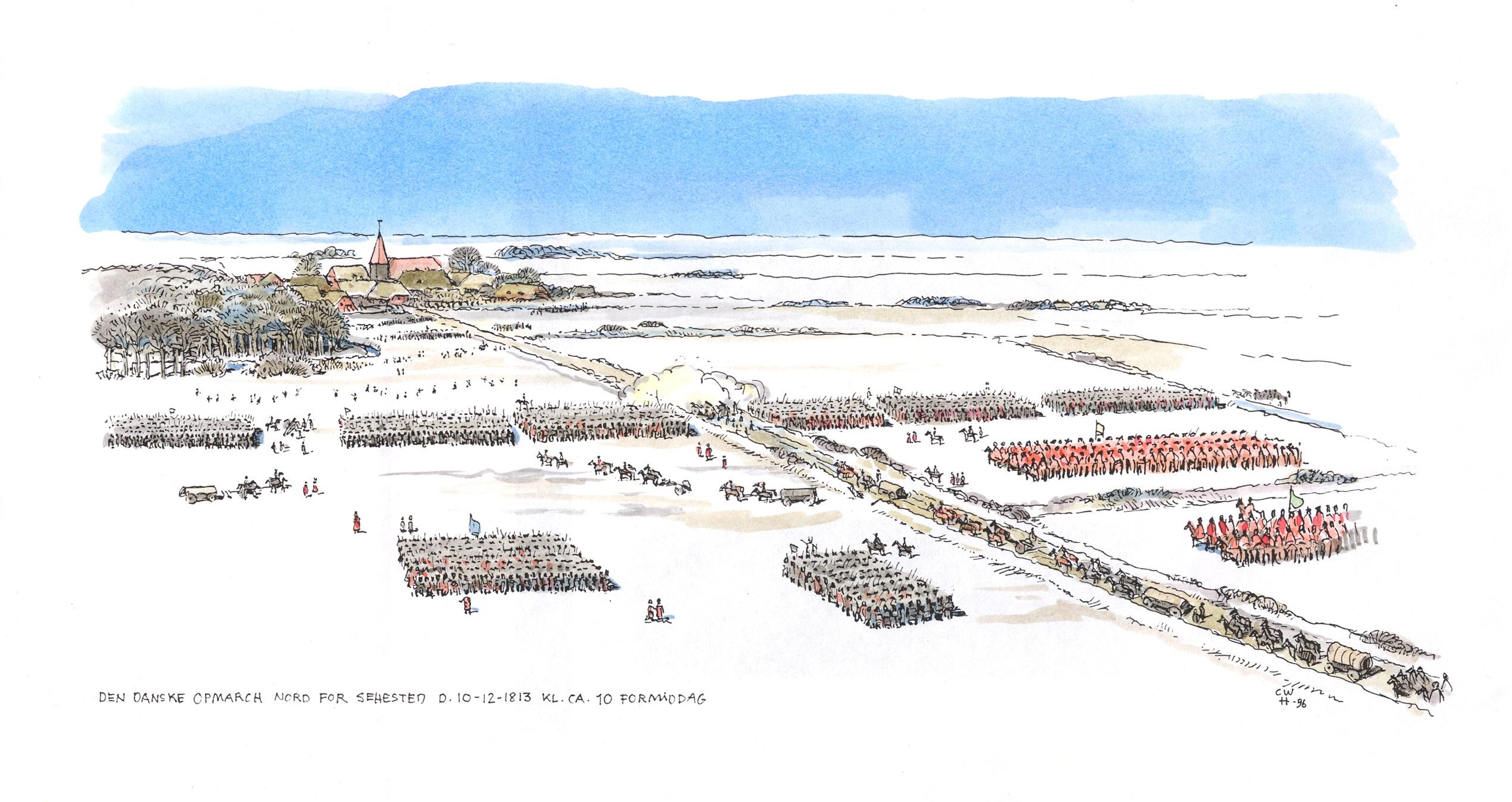 Den-danske-opmarch-nord-for-Sehested-10.12.1813-kl.-ca.-10-formiddag-2