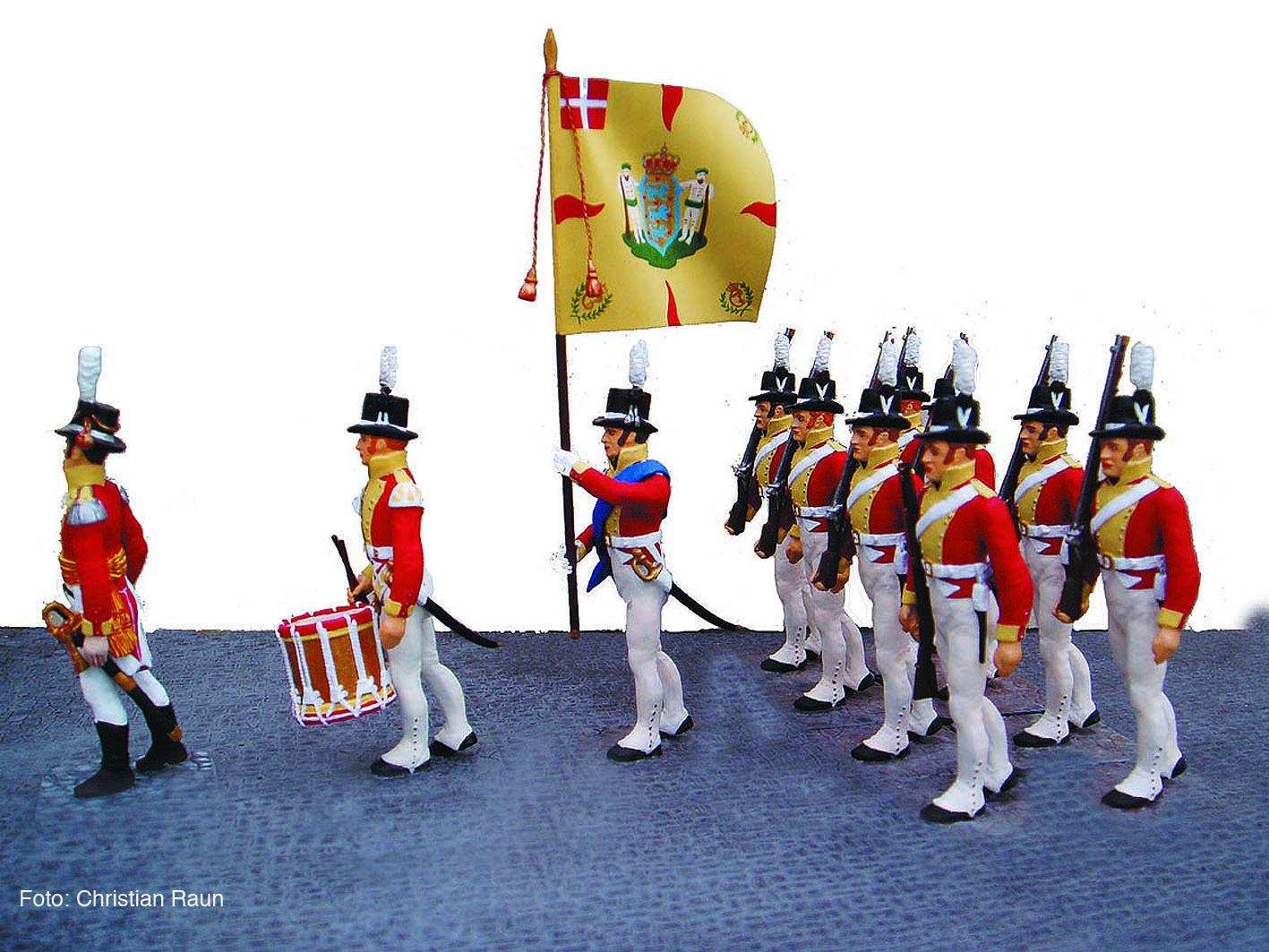 Danmark 1807, Danske Livregiment til Fods med den gule fane