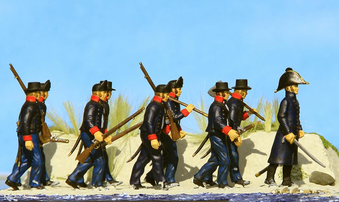 1811-Søløjtnant-C.-Holstein-med-matroser-på-Anholt-2