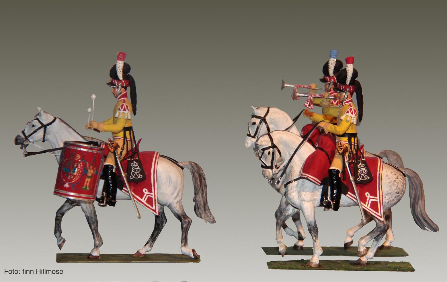 1813-Danmark-Den-Kongl.-Livgarde-til-Hest-1.-og-2.-eskadron-paukeslager-og-trompeterer