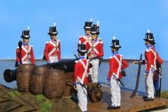 1811-Storbritannien-Royal-Marine-med-24-pd.-kanon-på-Anholt