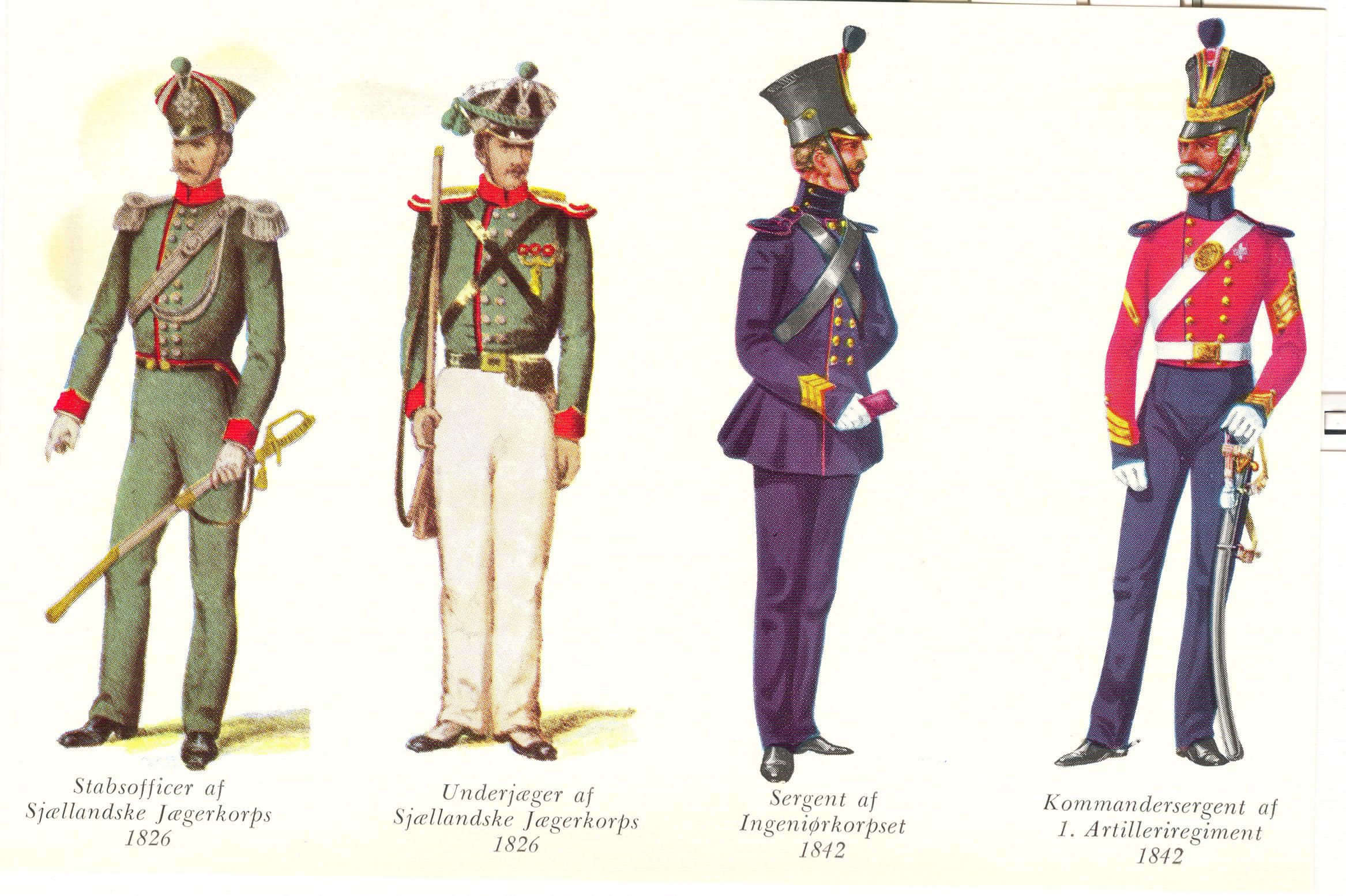 Nr.-4-Sjællandske-Jægerkorps-Ingeniørkorpset-og-1.-Artilleriregiment