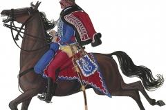 Husarregimentet, underofficer 1774
