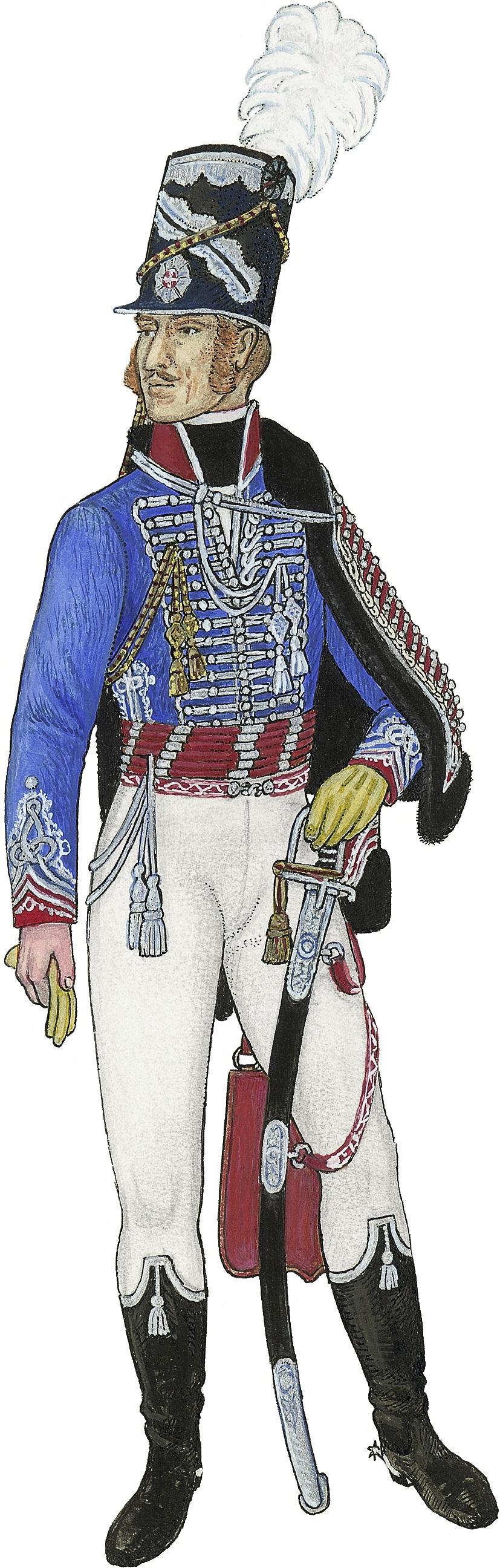 Husarregimentet, officer 1807