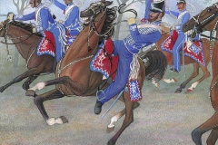 Gardehusardivisionen i kamp under den Slesvig-Holstenske krig 1848 - 1850