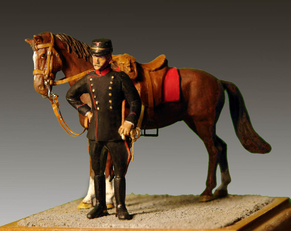 1915-Dansk-Artil-serg.-m-hest