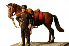 Dansk 1915 Artilleri Sergent med hest