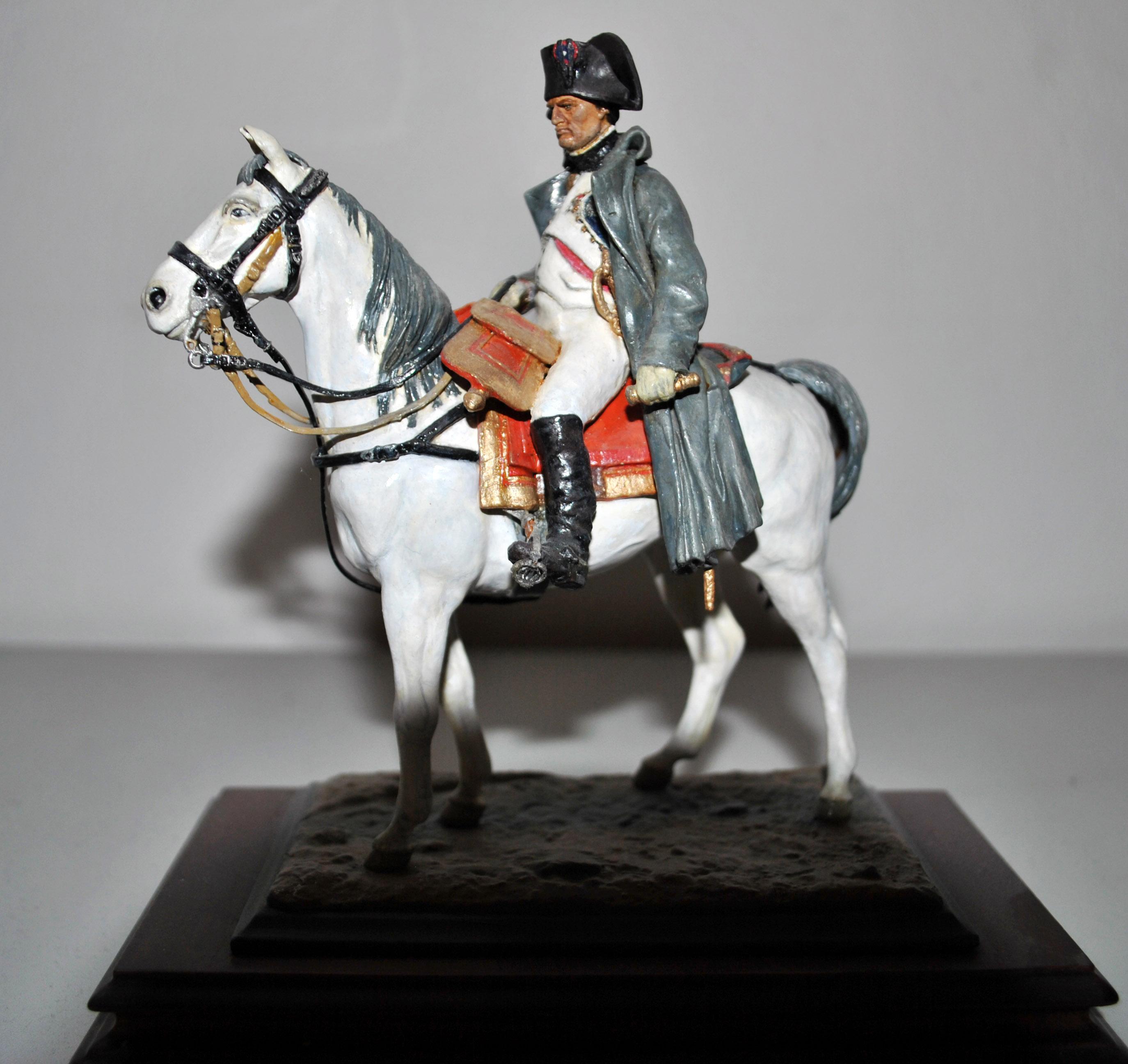 1814-Napoleon-på-araberhesten-Marengo