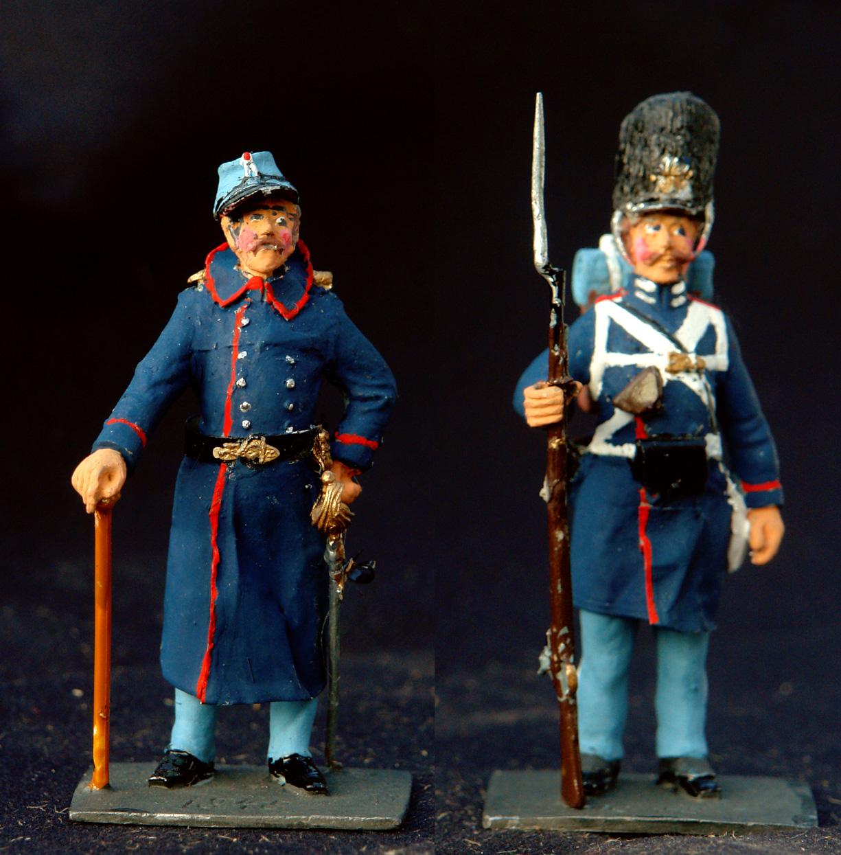1850-Dansk-officer-og-garder