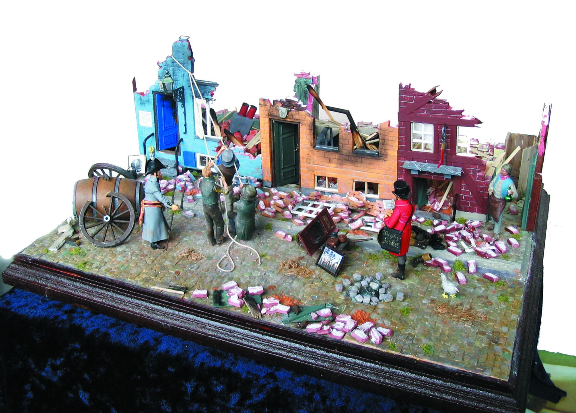 1807 København Lille Købmagergade efter bombardementet