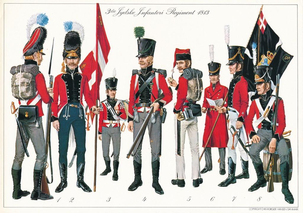 01, 3. Jydske Inf. Reg., 1813, tegnet af Chr. Würgler Hansen