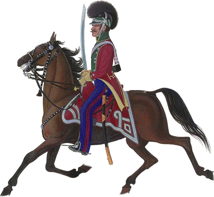 Jydske Regiment Lette Dragoner, løjtnant 1813