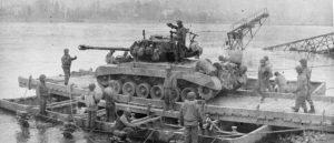 M26 Pershing preparing to cross the Rhine 1945