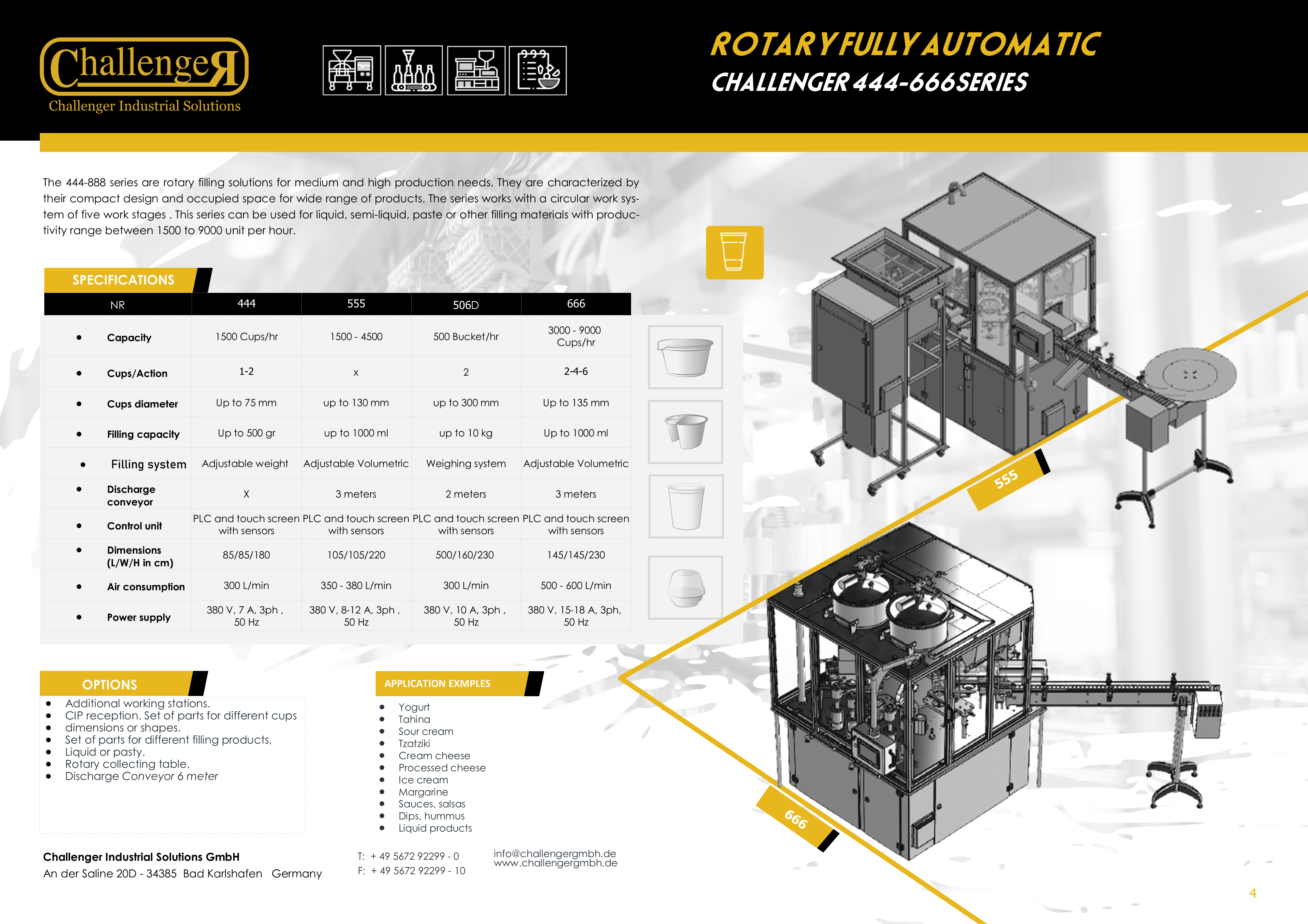 Filling Machine for Food and Beverage ROTARY FULLY AUTOMATIC one page