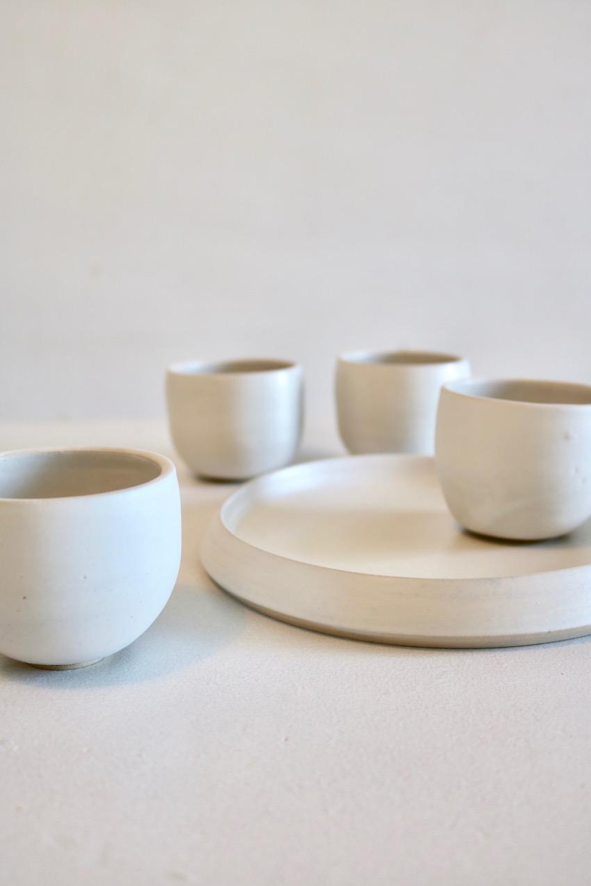 Kommekes – Satin-witte koffieset