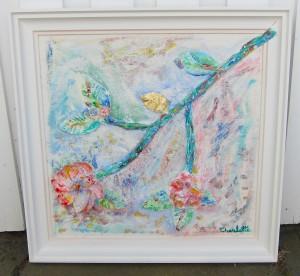 """""""Explosive spring in Tokyo"""" 76x74 cm"""