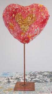 creative heart sculpture