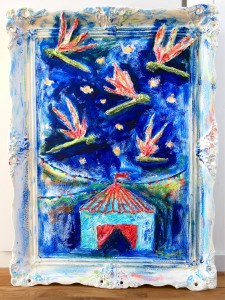 """Dragonflies at the carneval"" 79x60cm. One life, one day, one choice. What would you do?"