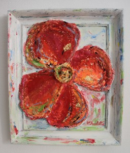 """""""Poppy Carnival"""" 53x45cm. Spin spin spin the carousel. Let all the colors shine over me!"""