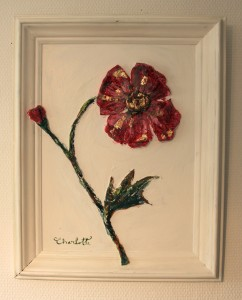 """""""Beautiful Courtesan"""" 50x40cm. This poppy has only one purpose - To seduce you!"""