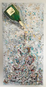 charlotte_olsson_art_design_pattern_swedishart_champagne_recyclingart_silk_exclusive_original_painting_bubbles_colorful