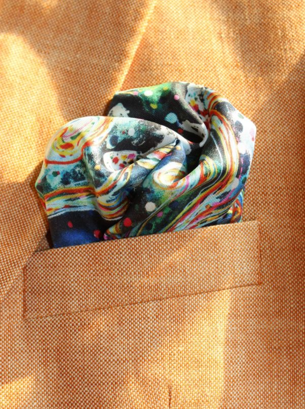 charlotte_olsson_art_design_pattern_swedishart_champagne_recyclingart_silk_exclusive_original_pocketsquare_näsduk_silkpattern_gentlemen_classicstyle