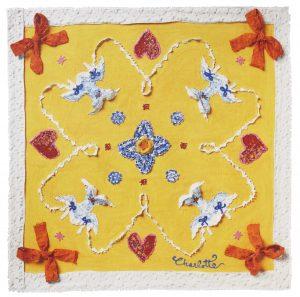 scarf ull siden konst mönster