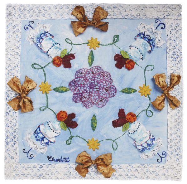happy cake scarf