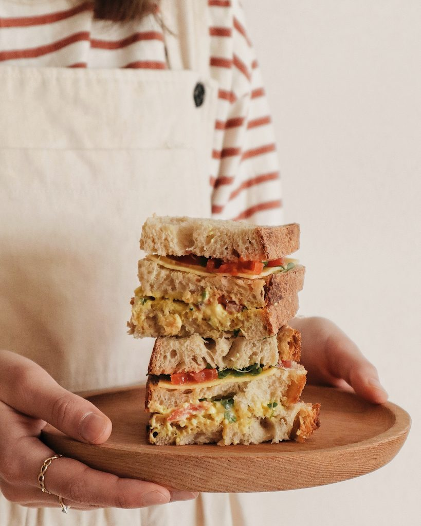 vegetarische club sandwich recept
