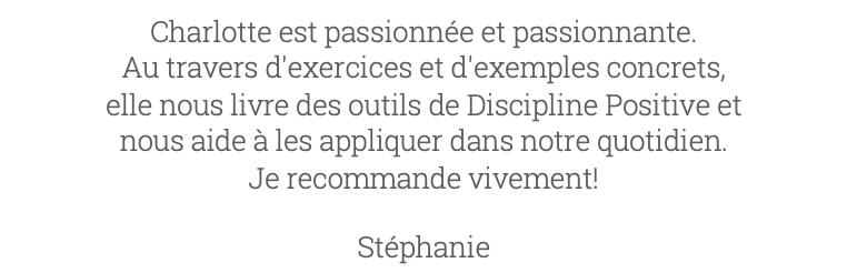 Avis 9 Charlotte Van Ingelgem Discipline Positive