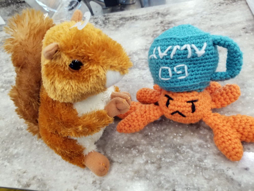 Crab and Squirrel, together at last!