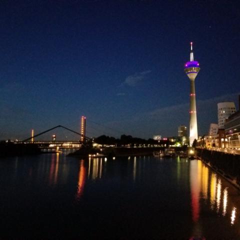 Rhine River, Dusseldorf