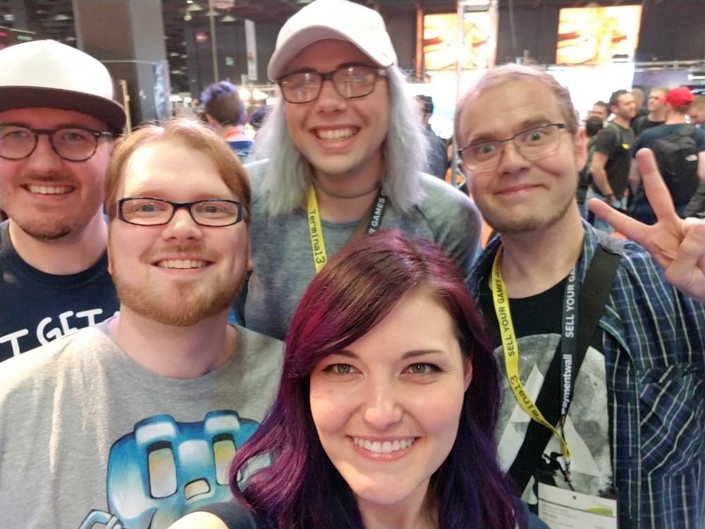 schottidev, BjoernMeansBear, teflorator, goawayimcrabby and lachsen at Gamescom 2019