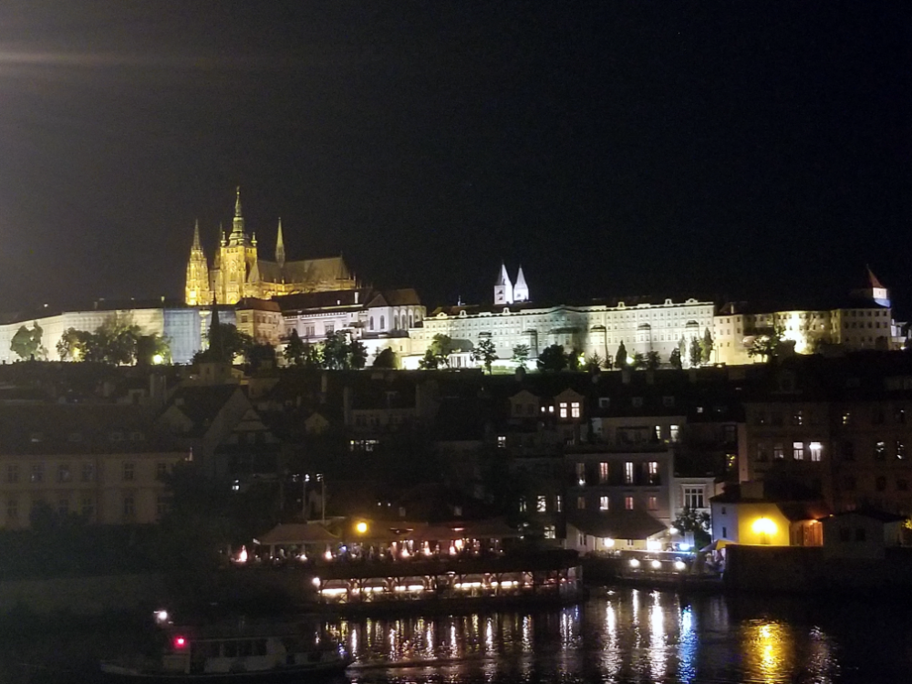 Viewing the St. Vitus Cathedral from the Charles Bridge